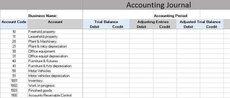 free accounting software - accounting journal